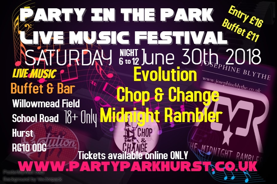 party in the park hurst poster